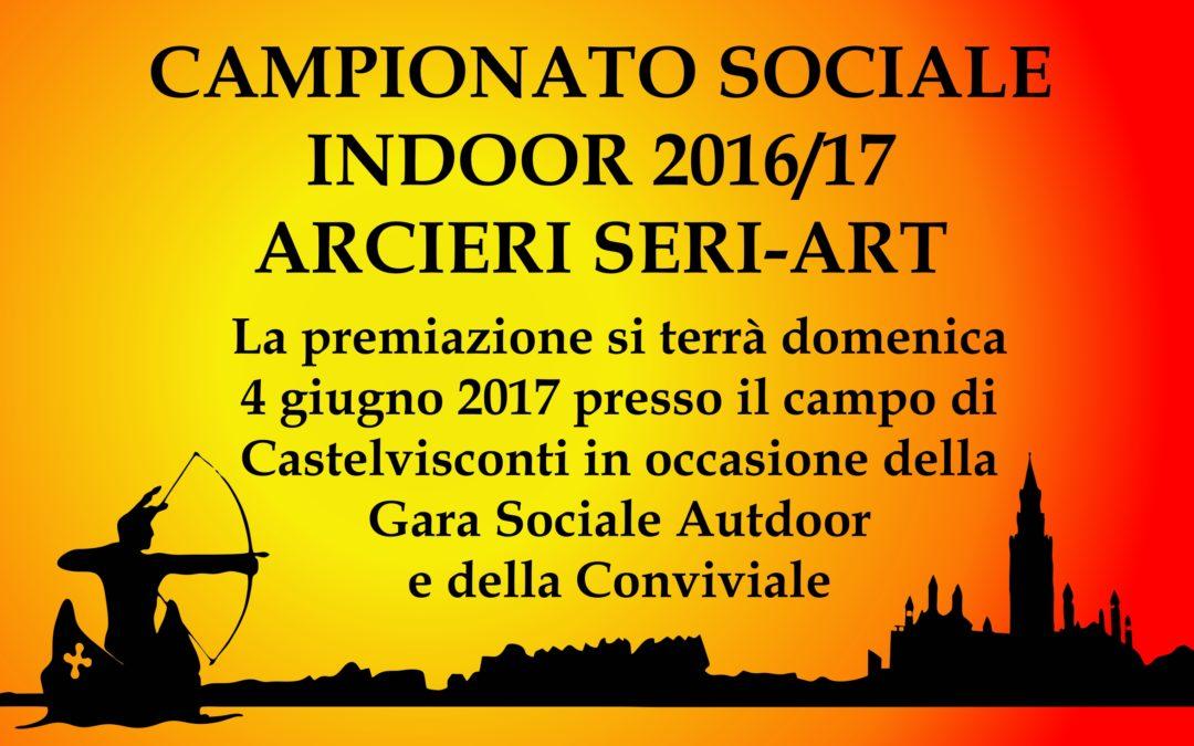 CLASSIFICA FINALE CAMPIONATO SOCIALE SERIART 2016-2017