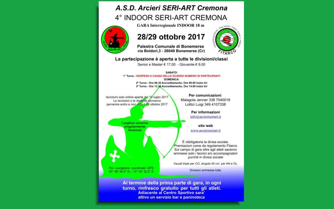 4° INDOOR SERI-ART – 29 ottobre 2017 – RISULTATI GARA