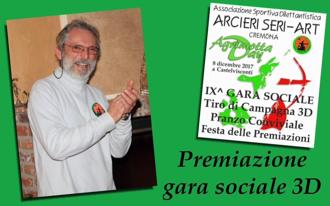 Premiazioni Gara Sociale 3D – Castelvisconti – 8 dicembre 2017
