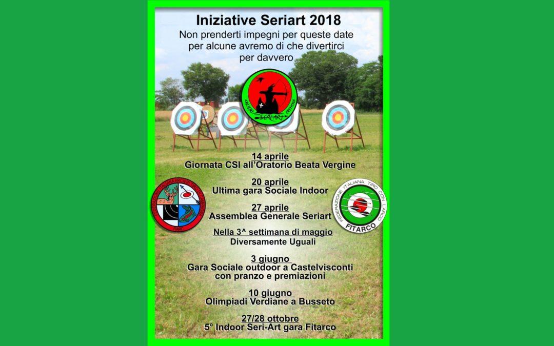 INIZIATIVE E IMPEGNI SERIART 2018
