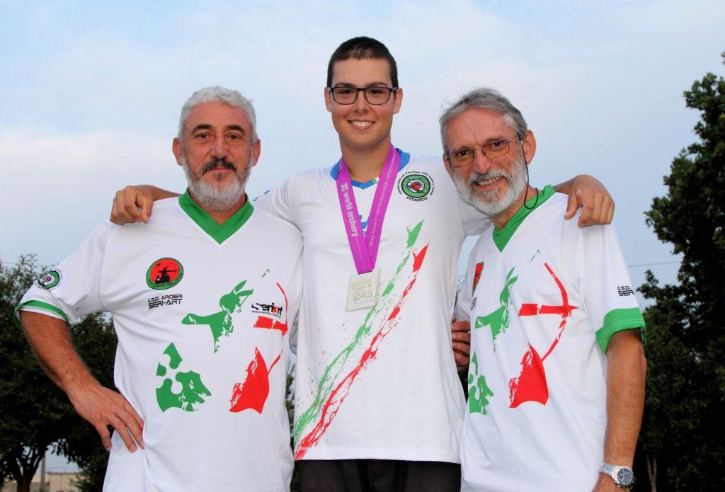 L'Istruttore Luciano Milanesi, David e il Responsabile Seriart Lottici Luigi