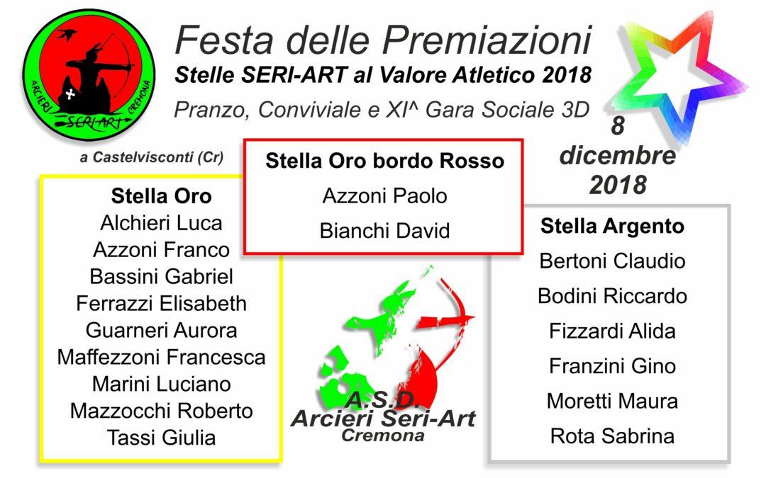 STELLE SERI-ART AL VALORE ATLETICO 2018