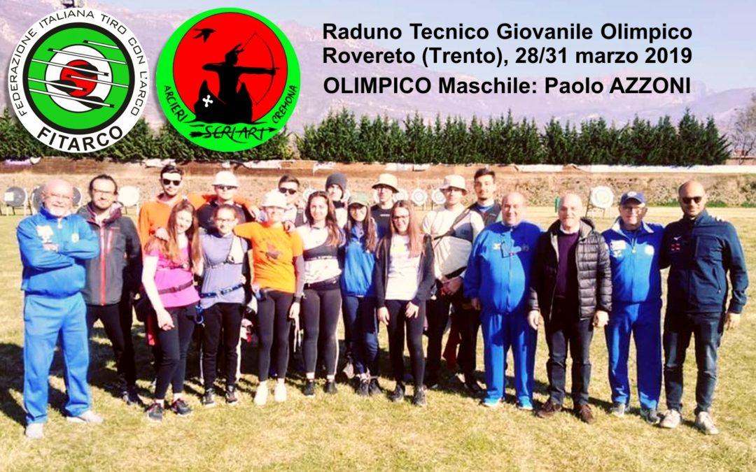 PAOLO AZZONI al Raduno Tecnico Giovanile Olimpico – Rovereto – 28/31 marzo 2019