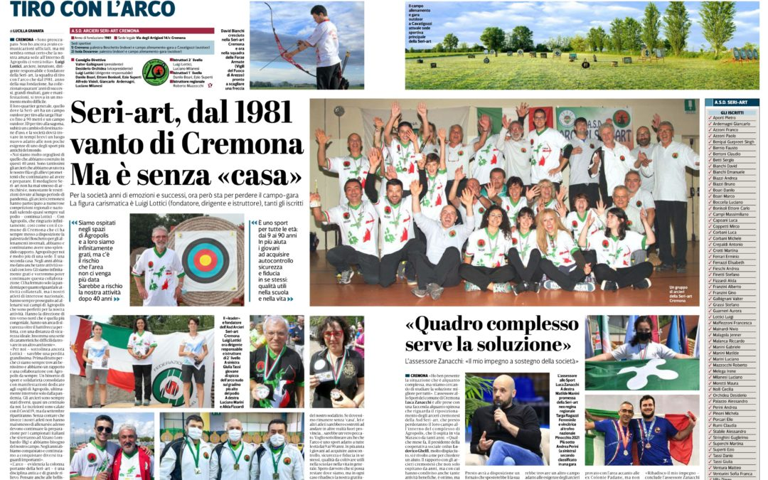 """SERIART VANTO DI CREMONA – articolo """" LA PROVINCIA """" dedicato alla nostra Associazione"""